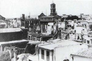 Η Χριστιανική συνοικία γύρω από την Τριμάρτυρη μετά την πυρκαγιά του 1897. (ΦΩΤ. Π. ΔΙΑΜΑΝΤΟΠΟΥΛΟΥ)