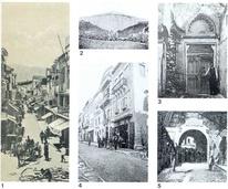 Η Ruga Magistra, σημερινή οδός Χάληδων από το λιμάνι (τέλη 19ου αιώνα).2. Ο προμαχώνας Santa Lucia πριν από την κατάχωση. (ΦΩΤ. G. GEROLA) 3. Ερείπια υστερογοτθικού μεγάρου στις αρχές του αιώνα. (ΦΩΤ. G. GEROLA) 4. Το μέγαρο Premarin στην αρχή του Corso στο Καστέλι. (ΦΩΤ. G. GEROLA)