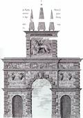 Η Porta Retimiotta σε αναπαράσταση του G. Gerola.