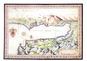 Λιμένας της Σούδας. (ΣΧΕΔΙΟ F. BASILLICATA,1618)