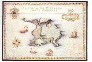 Νησίδες και φρούριον Γραμβούσας. (ΣΧΕΔΙΟ F. BASILLICATA, 1618)